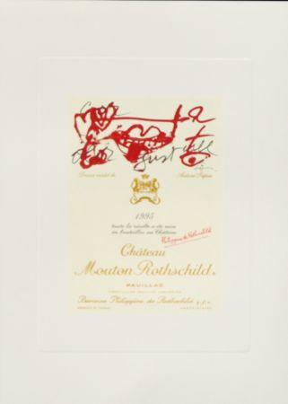 Lithographie Tàpies -  Dessin inedite de Antoni Tapies