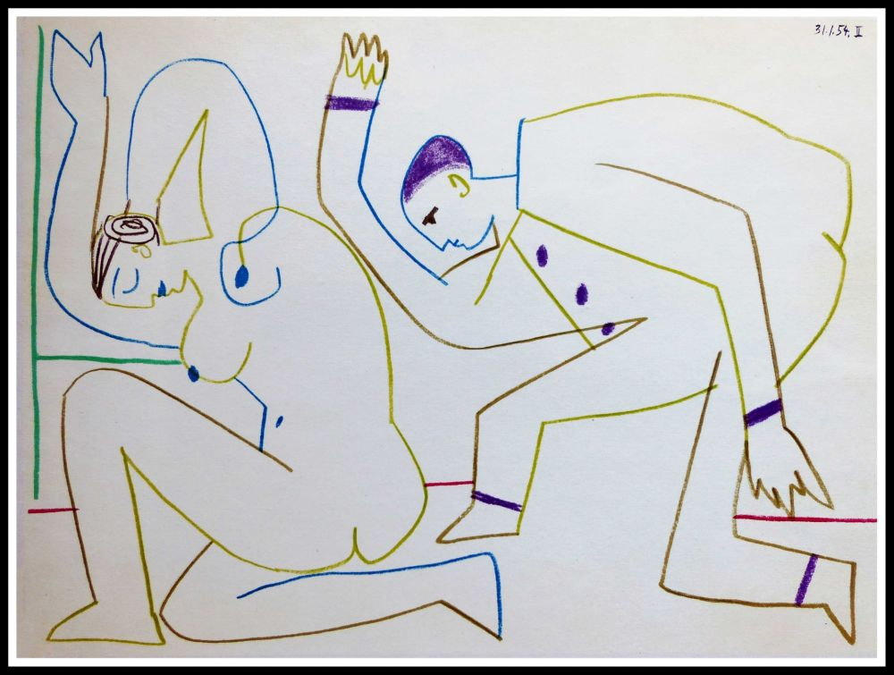Lithographie Picasso (After) - DESSINS DE VALLAURIS VIII