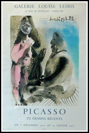 Plakat Picasso - DESSINS PICASSO, GALERIE LOUISE LEIRIS