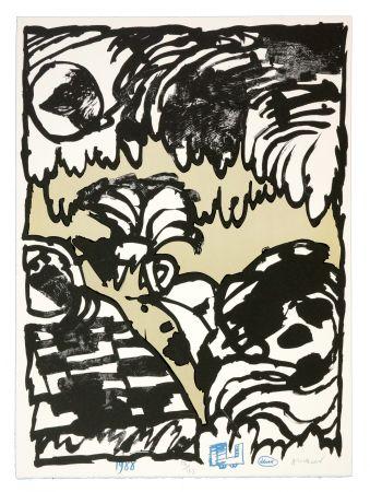 Lithographie Alechinsky - Deux