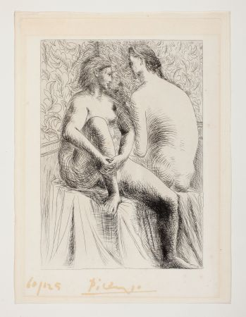 Radierung Picasso - Deux Femmes Nues