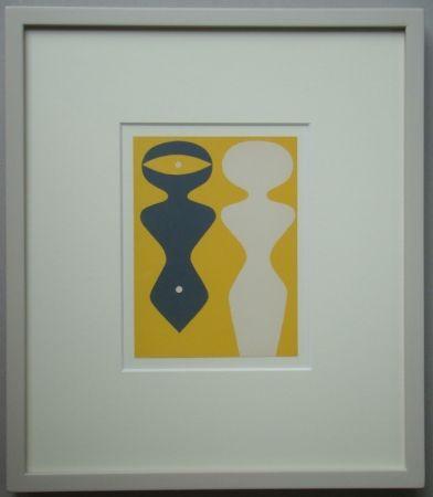 Holzschnitt Arp - Deux Figures