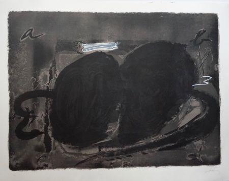 Lithographie Tàpies - Deux Utrous