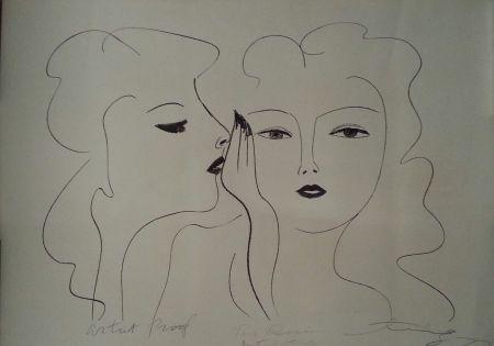 Lithographie Ting - Deux Visages