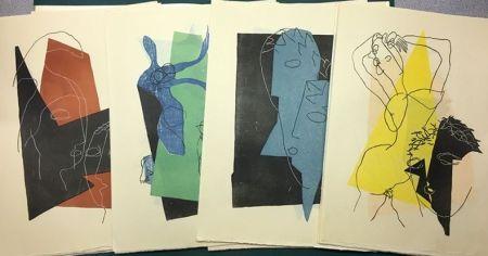 Holzschnitt Laurens - DIALOGUES: SUITE DES 32 GRAVURES ORIGINALES SUR BOIS EN COULEURS (1951).