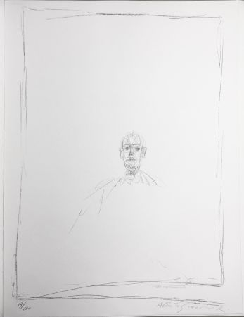Lithographie Giacometti - DIEGO. Lithographie originale signée. 1963