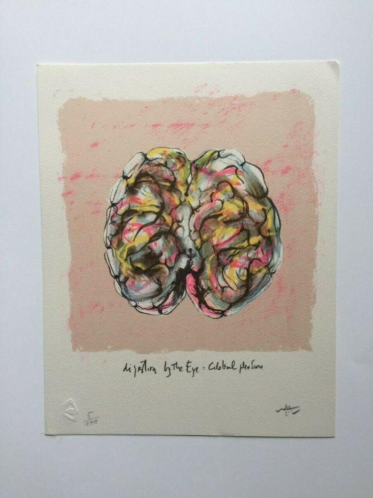 Lithographie Matta - Digestion by the eye (from Morfolgie Verbali)