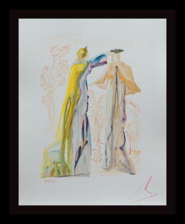 Holzschnitt Dali - Divine Comedy purgatory Canto 27