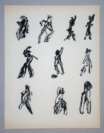 Lithographie Michaux - Dix Figures