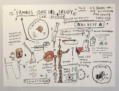 Siebdruck Basquiat - Dog Leg Study