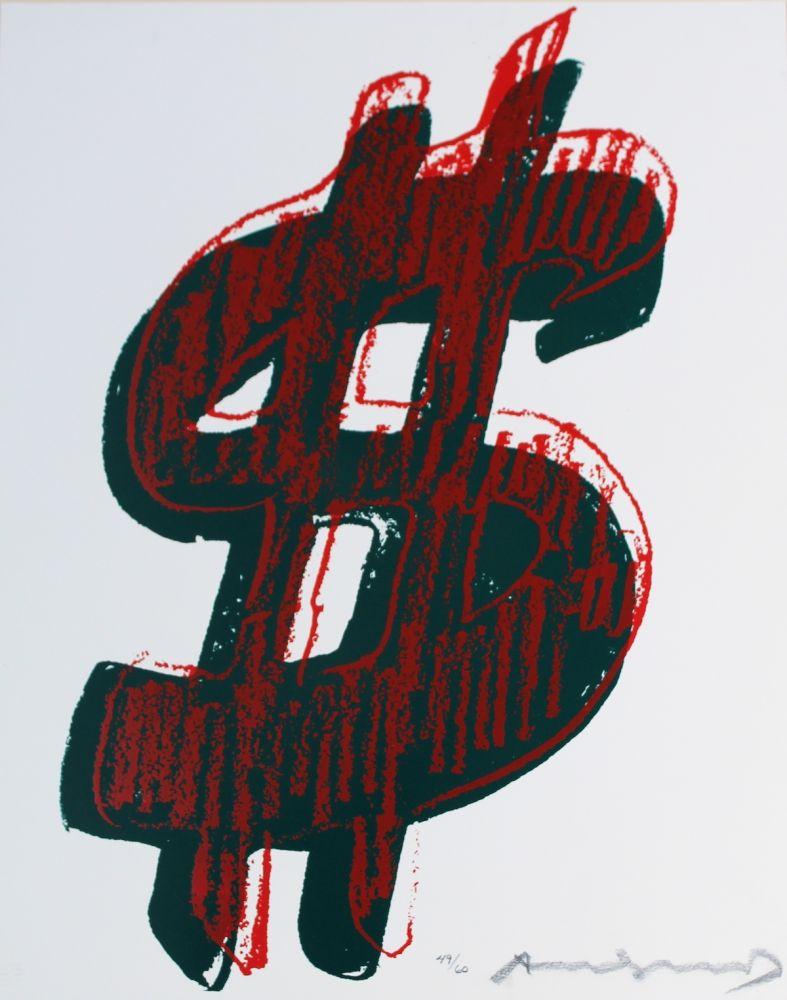 Siebdruck Warhol - Dollar Sign (FS II.278)