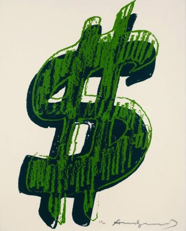 Siebdruck Warhol - Dollar Sign, Green (Fs Ii.278)