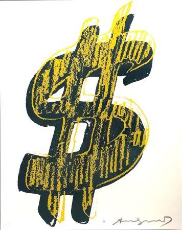 Siebdruck Warhol - Dollar Sign, Yellow  (FS II.278)