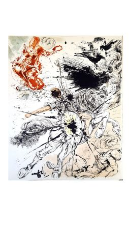 Lithographie Dali - Don Quichotte