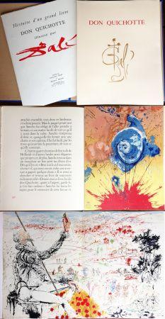 Illustriertes Buch Dali - DON QUICHOTTE DE LA MANCHE (Cervantès). Ex. avec suite supplémentaire (J. Foret 1957).