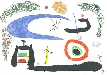 Radierung Und Aquatinta Miró - Dormir sous la lune