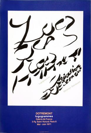 Plakat Alechinsky - Dotremont, logogrammes, 1971