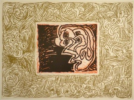 Linolschnitt Alechinsky - Double Vue