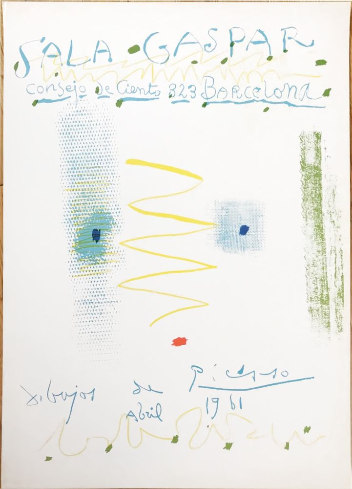 Lithographie Picasso - Drawings by Picasso - poster - Sala Gaspar, Barcelona (