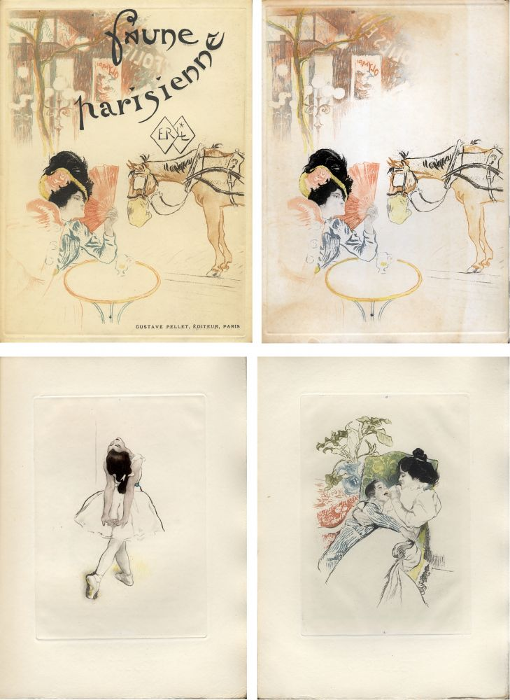 Illustriertes Buch Legrand - E. Ramiro : FAUNE PARISIENNE. La suite des gravures signées par Louis Legrand (1901)