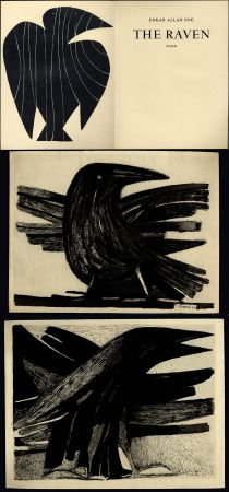 Illustriertes Buch Prassinos - Edgar Allan Poe. THE RAVEN
