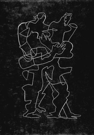 Radierung Zadkine - Efant aux mains coupées parmi les poses oriflammes