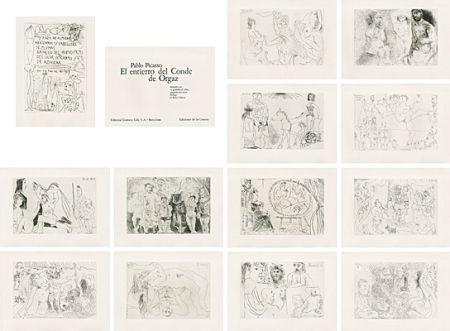 Illustriertes Buch Picasso - El entierro del Conde de Orgaz