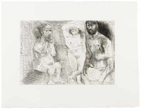 Illustriertes Buch Picasso - EL ENTIERRO DEL CONDE DE ORGAZ. 13 gravures originales (1969).