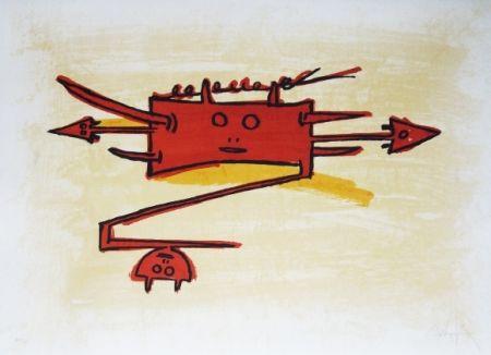 Lithographie Lam - El ultimo viaje del buque fantasma - 6
