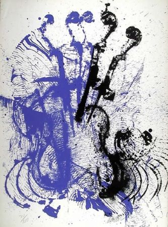 Siebdruck Arman - Electric Concerto