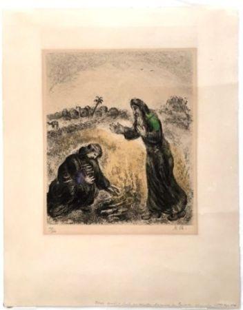 Radierung Chagall - Elijah