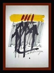 Lithographie Tapies - Els Mestres De Catalunya