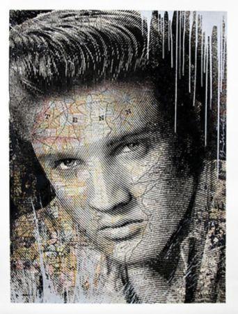 Siebdruck Mr. Brainwash - Elvis – King of Rock Silver