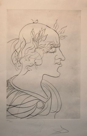 Radierung Dali - Emperador Trajano
