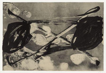 Lithographie Tapies - Empreinte Barrée