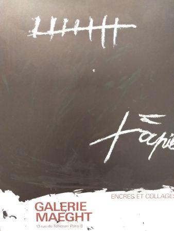 Plakat Tàpies - Encres et collages