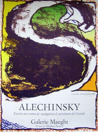 Plakat Alechinsky - Encres sur carte