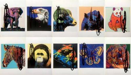 Lithographie Warhol - Endangered Species Announcement Cards (Set of 10) (Signed)