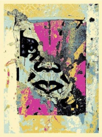 Siebdruck Fairey - Enhanced Disintegration (Pink),