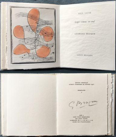 Illustriertes Buch Braque - Erik satie : LÉGER COMME UN ŒUF. Une gravure originale en couleurs (1957)