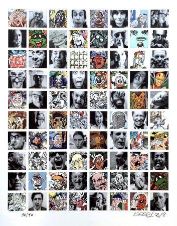 Digitale Druckgrafik Erro - Erroscubes