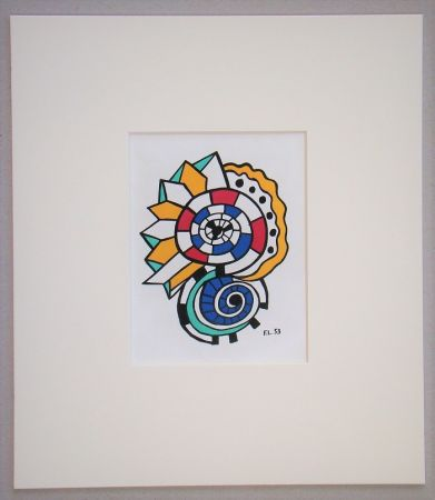 Lithographie Leger - Escargot - 1953