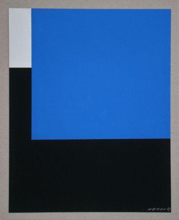 Siebdruck Nemours - Espace bleue