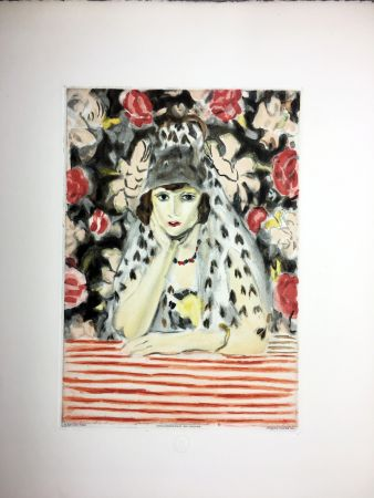 Radierung Und Aquatinta Matisse - ESPAGNOLE À LA MANTILLE (1925)