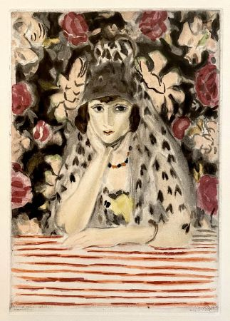 Aquatinta Matisse - Espagnole a la Mantille