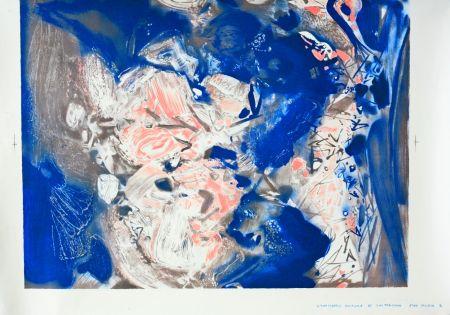 Lithographie Chu Teh Chun  - Essai couleur