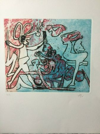 Stich Matta - Etching in colors from the portfolio