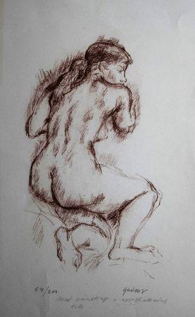 Lithographie Olovson - Etude De Nu