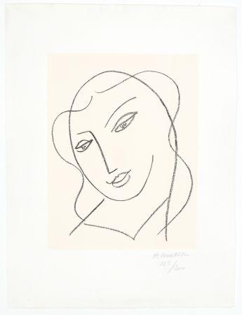 Lithographie Matisse - Etude pour la Vierge,