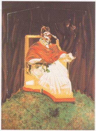Lithographie Bacon - Etude pour un portrait du Pape Innocent X d'après Vélasquez.
